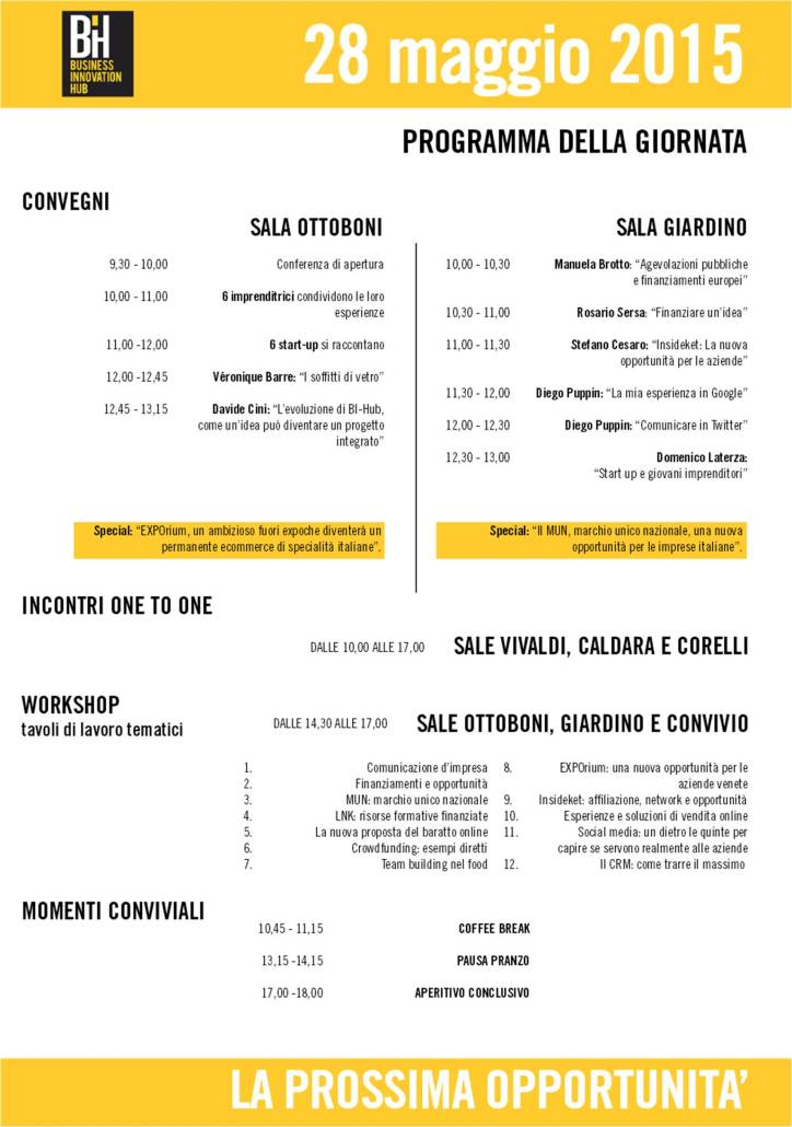 programma Business Innovation Hub Women & Young