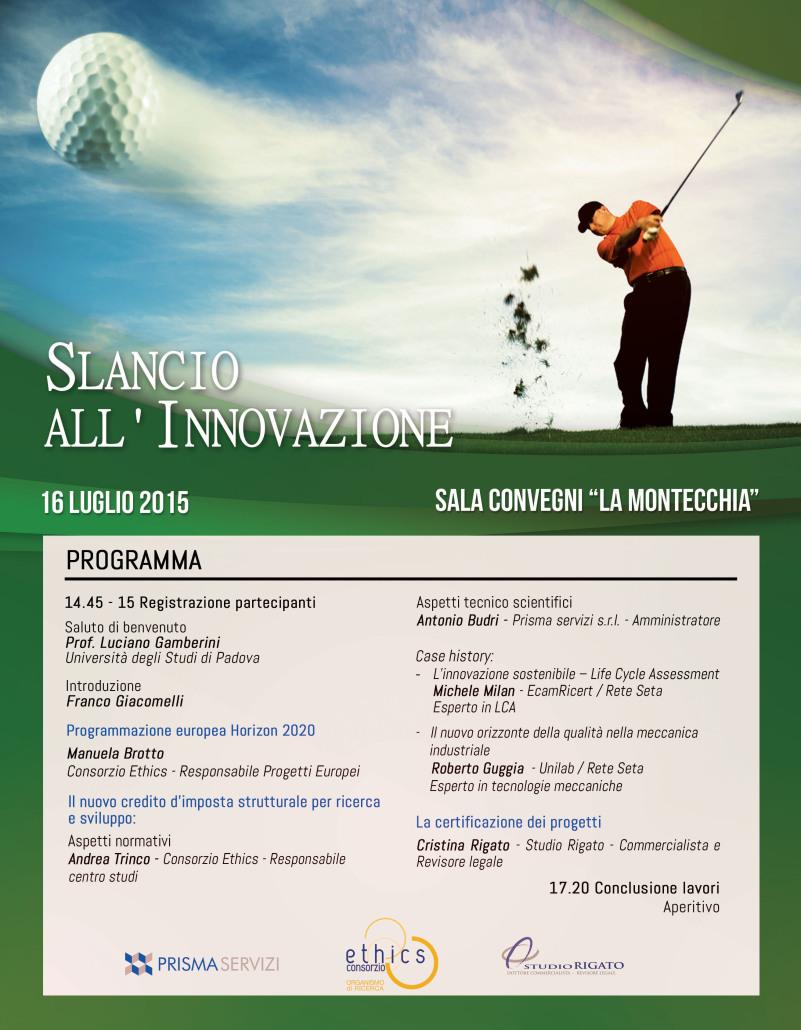 Evento: Slancio all'innovazione