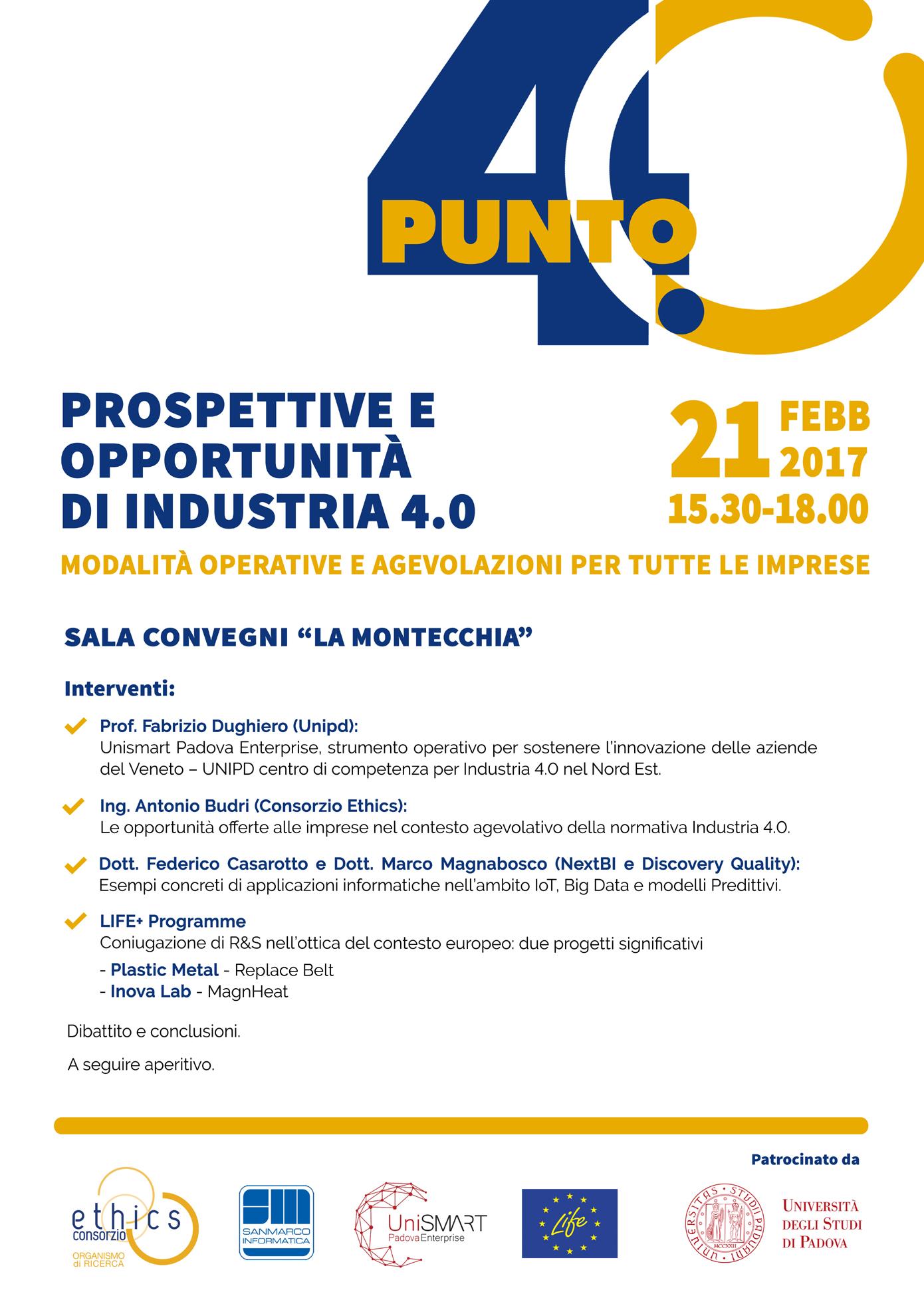 Prospettive e opportunità di Industria 4.0 - locandina