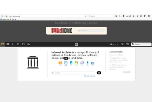 La Wayback Machine e la divulgazione di disegni o modelli su internet